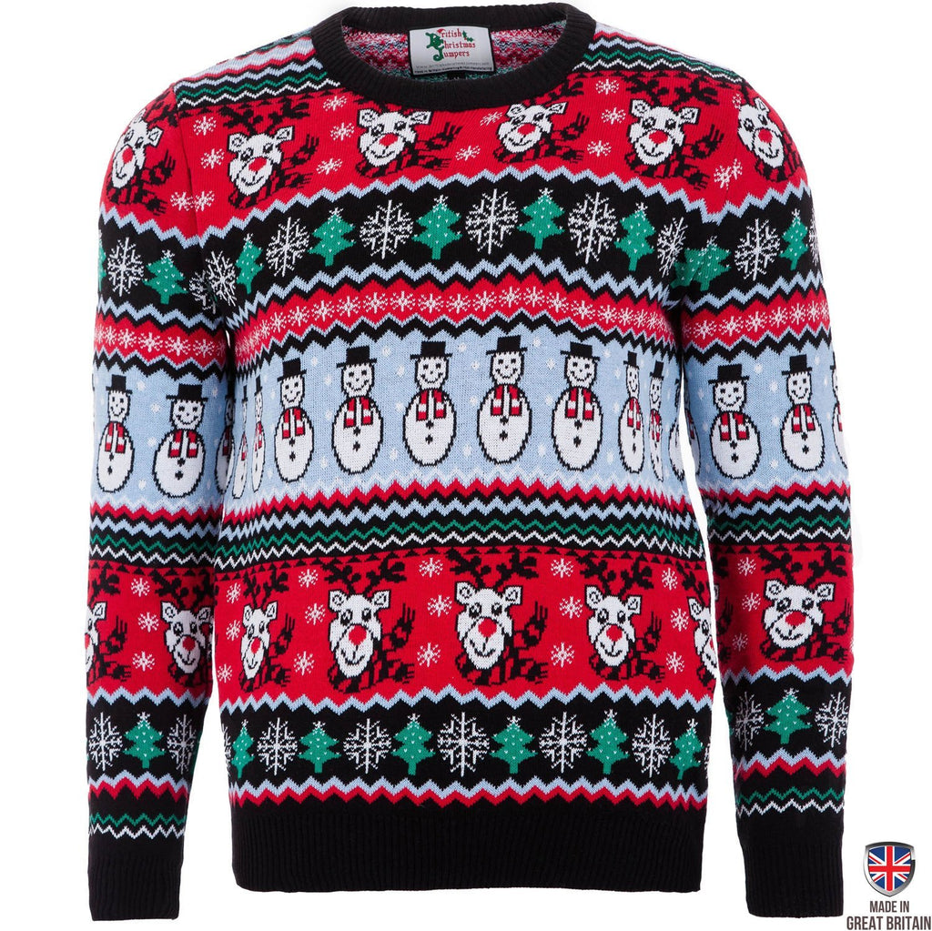 Comic xmas mens knitted xmas jumper british christmas jumpers comic xmas black mens christmas jumper bankloansurffo Image collections