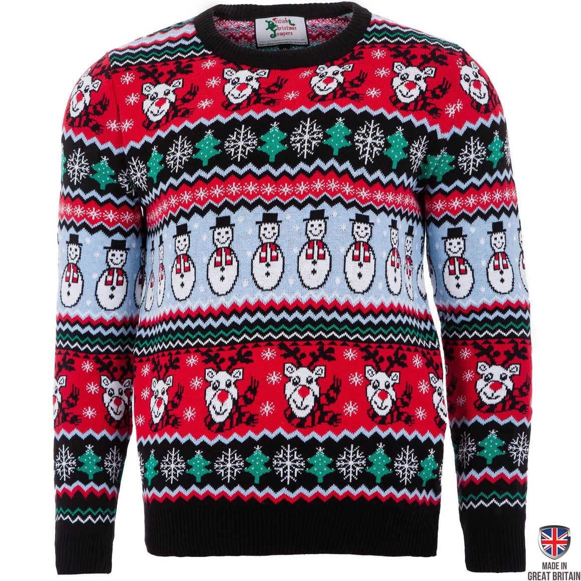 Comic Xmas - Black - Mens Christmas Jumper - British Christmas Jumpers