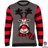 Rudy - The Mischievous Reindeer - Mens Christmas Jumper