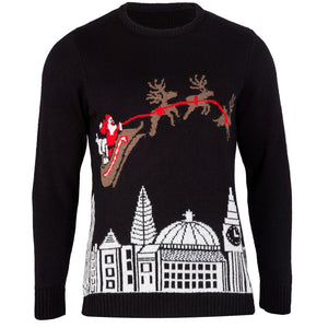 Mens Black Christmas In London Jumper