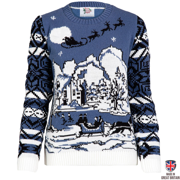 An English Christmas - Womens Christmas Jumper