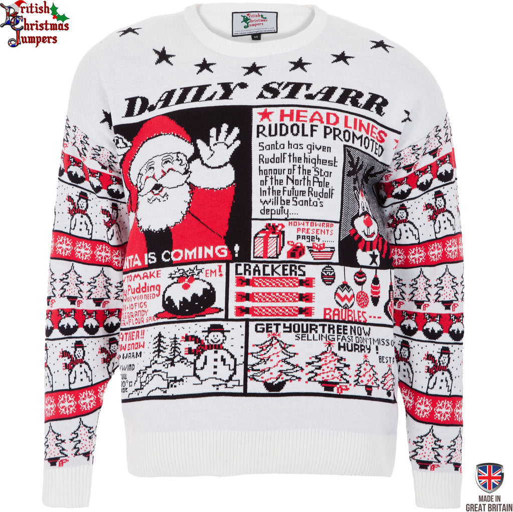 Daily Starr News - Mens Knitted Xmas Jumper - British Christmas ...