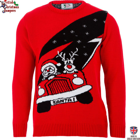 Santa's New Ride  - Mens Christmas Jumper