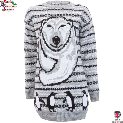 Polar Bear Xmas - Womens Christmas Jumper Dress