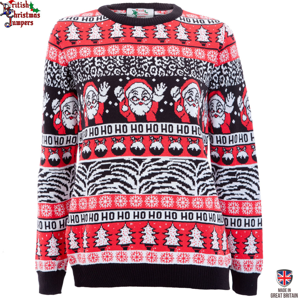 Comic Wave - Womens Christmas Jumper - Fine Knit - Made in Great ...