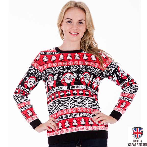 Comic Wave - Womens Christmas Jumper - British Christmas Jumpers