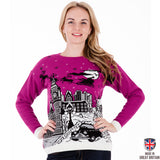Christmas in London - Edition II - Cerise Pink - Womens Christmas Jumper