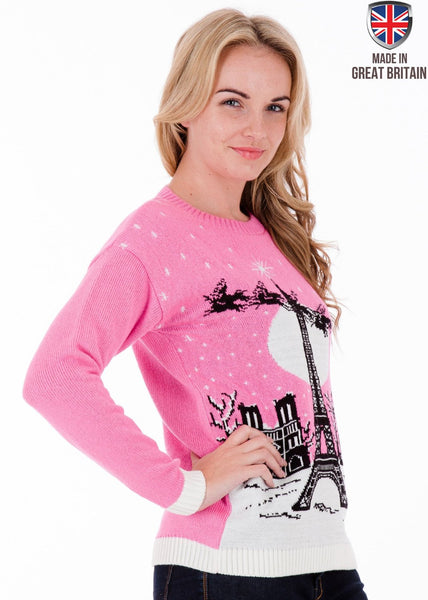 Christmas in Paris - Womens Christmas Jumper