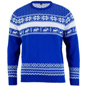 The Nordic Blue Mens Christmas Jumper - British Christmas Jumpers
