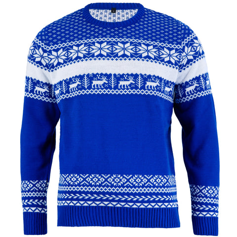 The Nordic Blue Mens Christmas Jumper