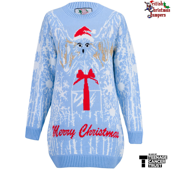 The Hooty Christmas Jumper Dress - Our Charity Jumper - British Christmas Jumpers