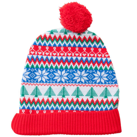 Red & Green Tree Beanie