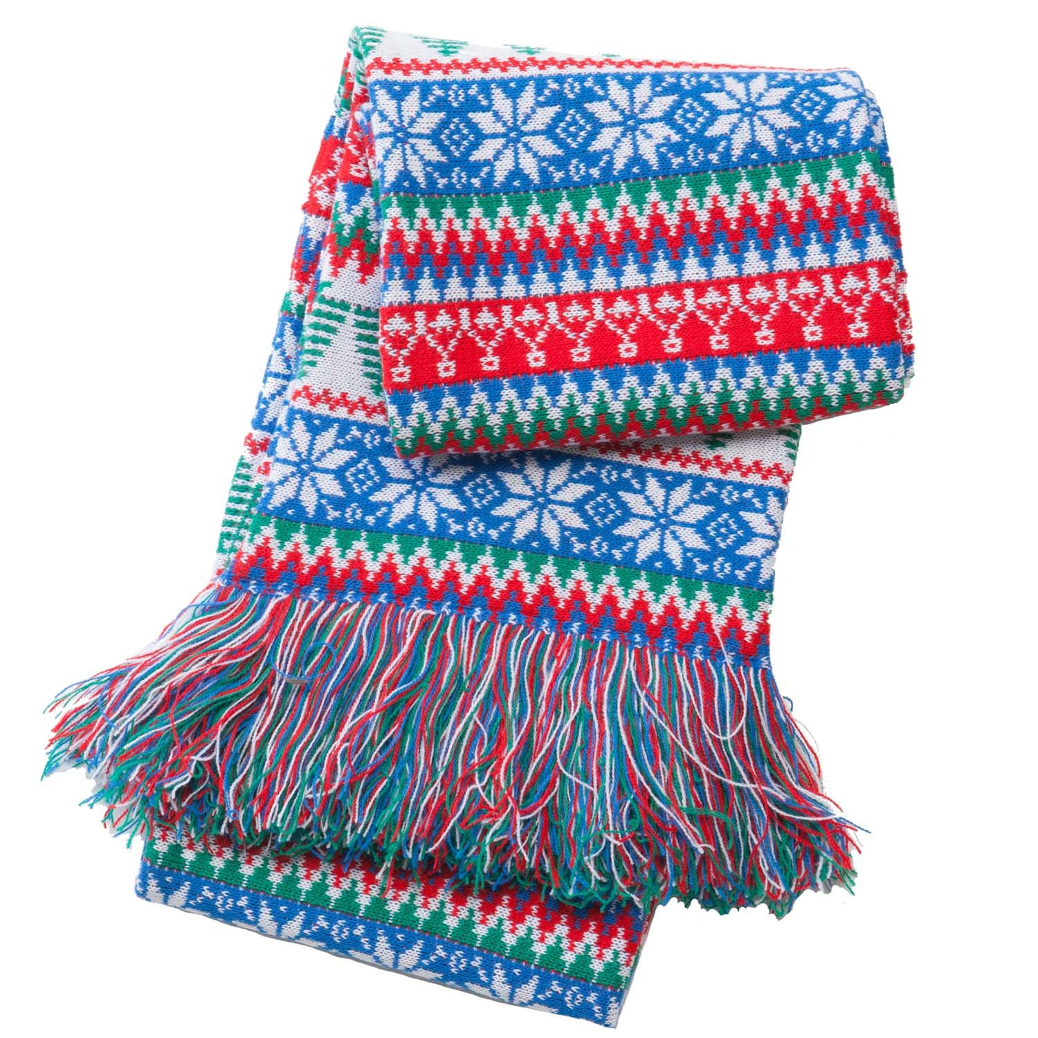 Christmas Scarf.Red Green Tree Scarf