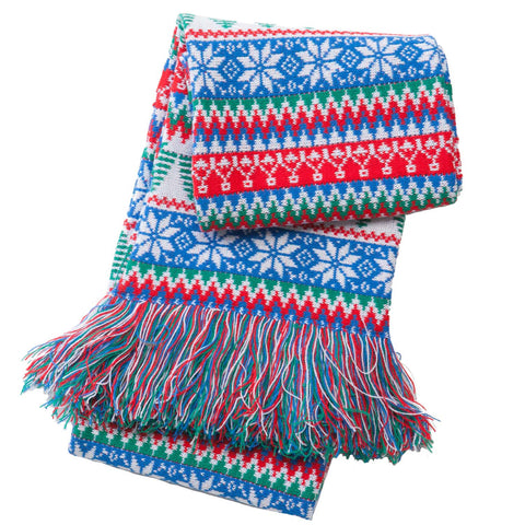 Red & Green Tree Scarf