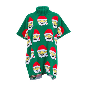 Santa Emoji Poncho - British Christmas Jumpers