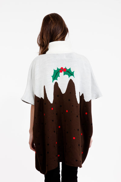 Christmas Pudding Poncho
