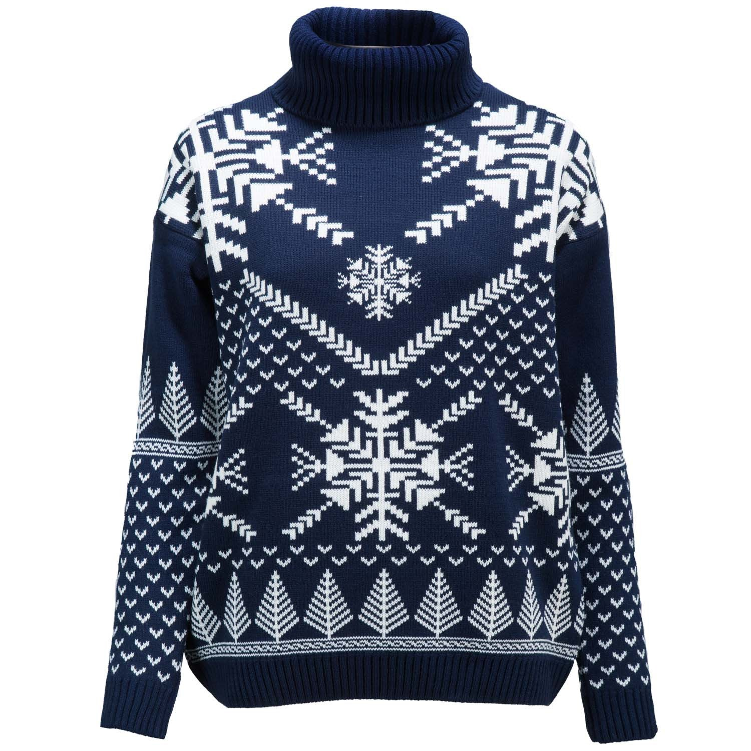 Snowflake Polo Neck   Womens Christmas Jumper