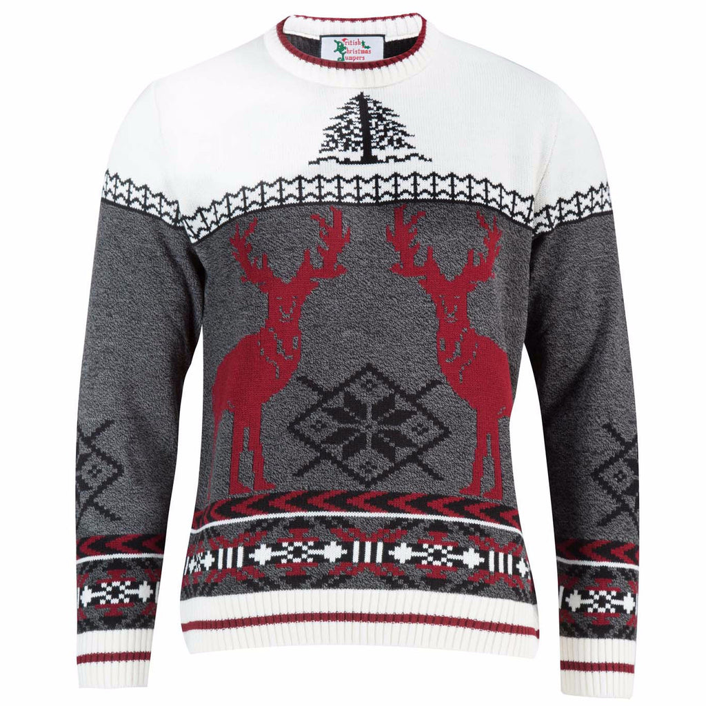 Men's Red Deer Christmas Jumper | British Christmas Jumpers