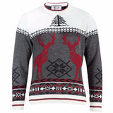 Men's reindeer Nordic Christmas jumper