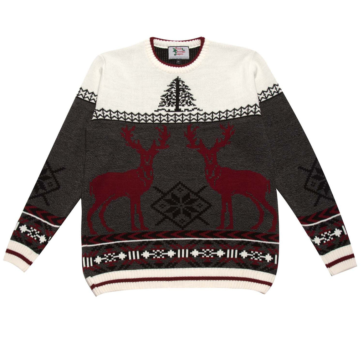 Red Deer - Womens Christmas Jumper - British Christmas Jumpers