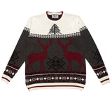 Men's red deer crew neck Christmas jumper