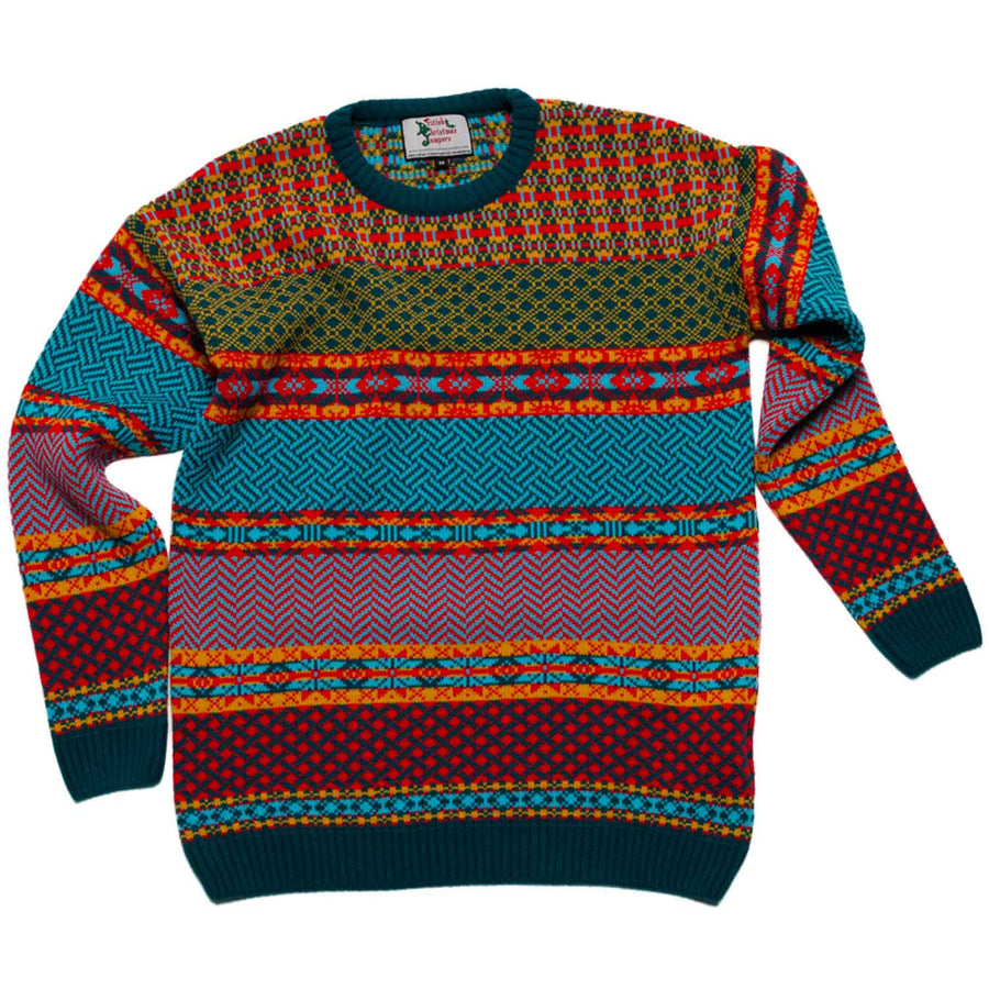 Boy's Cosmic Christmas Jumper Striped Christmas Jumper