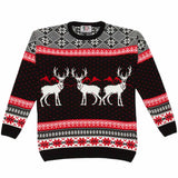 Boys Triple Deer Xmas Jumper