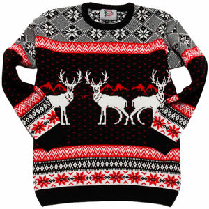 Boys Triple Deer Xmas Jumper - British Christmas Jumpers