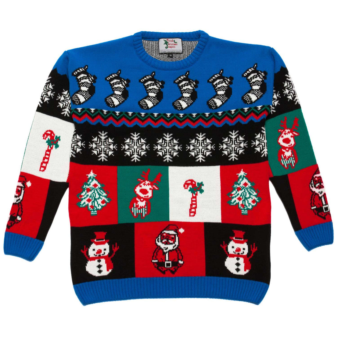 Boys Little Boxes Xmas Jumper