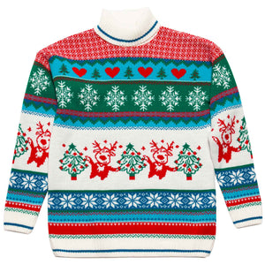 Girls Roll Neck Christmas Jumper - British Christmas Jumpers