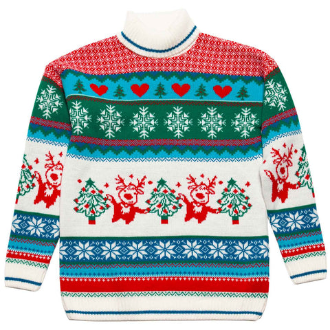 Girls Roll Neck Christmas Jumper