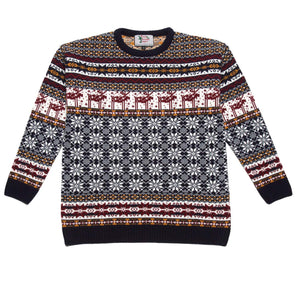 Boys patterned deer Christmas jumper