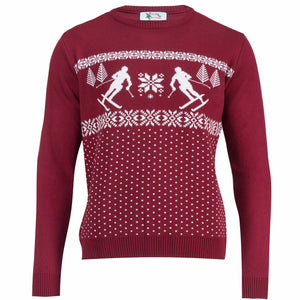 Dotted Ski Men - Mens Christmas Jumper - British Christmas Jumpers