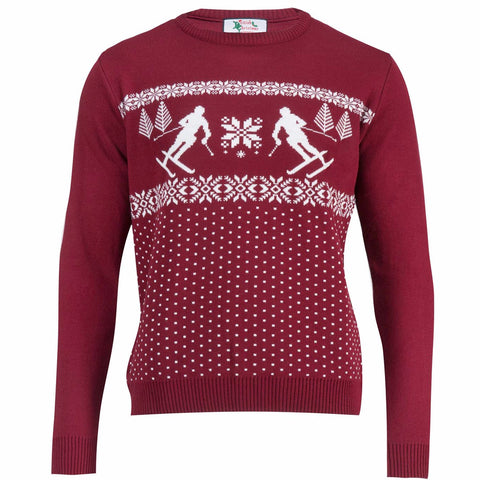 Dotted Ski Men - Mens Christmas Jumper
