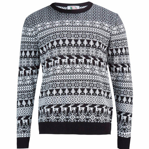 Black Deer Man - Mens Christmas Jumper