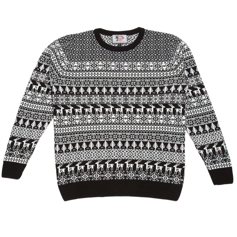 Men's black and cream Christmas sweatshirt