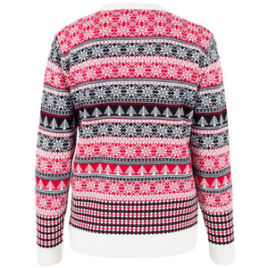 Penguin Fairisle - Cream - Womens Christmas Jumper - British Christmas Jumpers