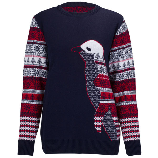 Penguin Fairisle - Navy - Womens Christmas Jumper - British Christmas Jumpers