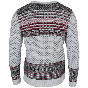 Grey Fairisle Jumper - Mens - British Christmas Jumpers