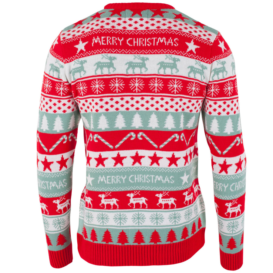 Merry Christmas Fairisle - Mens Christmas Jumper