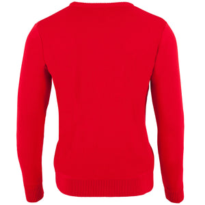 Santa Biker - Printed Knitted Mens Jumper
