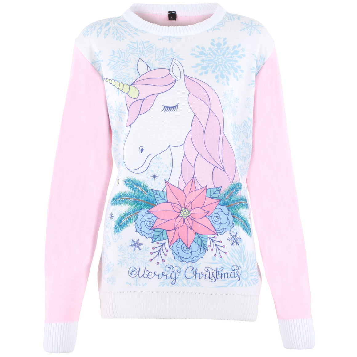 Cute Unicorn - Printed Knitted Ladies Jumper