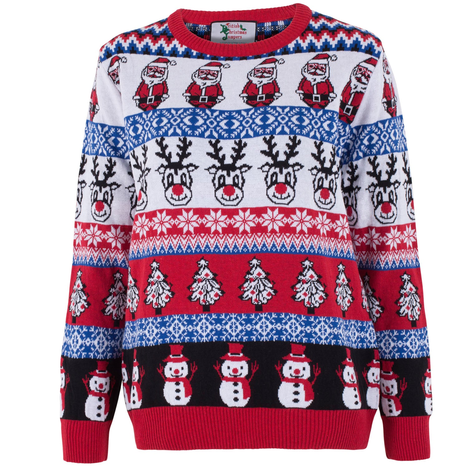 Christmas Jumpers.Comic Family Pack Crazy Christmas Jumper Womens