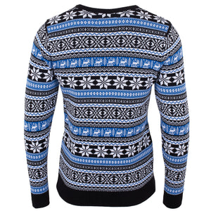 Blue Deer Fairisle Mens Eco Christmas Jumper