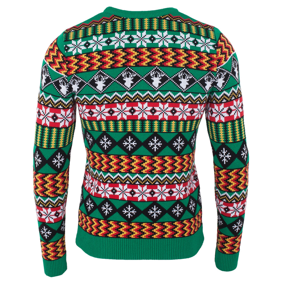 Wacky Fairisle Mens Eco Christmas Jumper