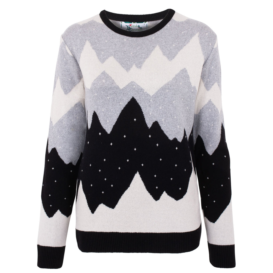 Mountain Peak Black Womens Eco Christmas Jumper