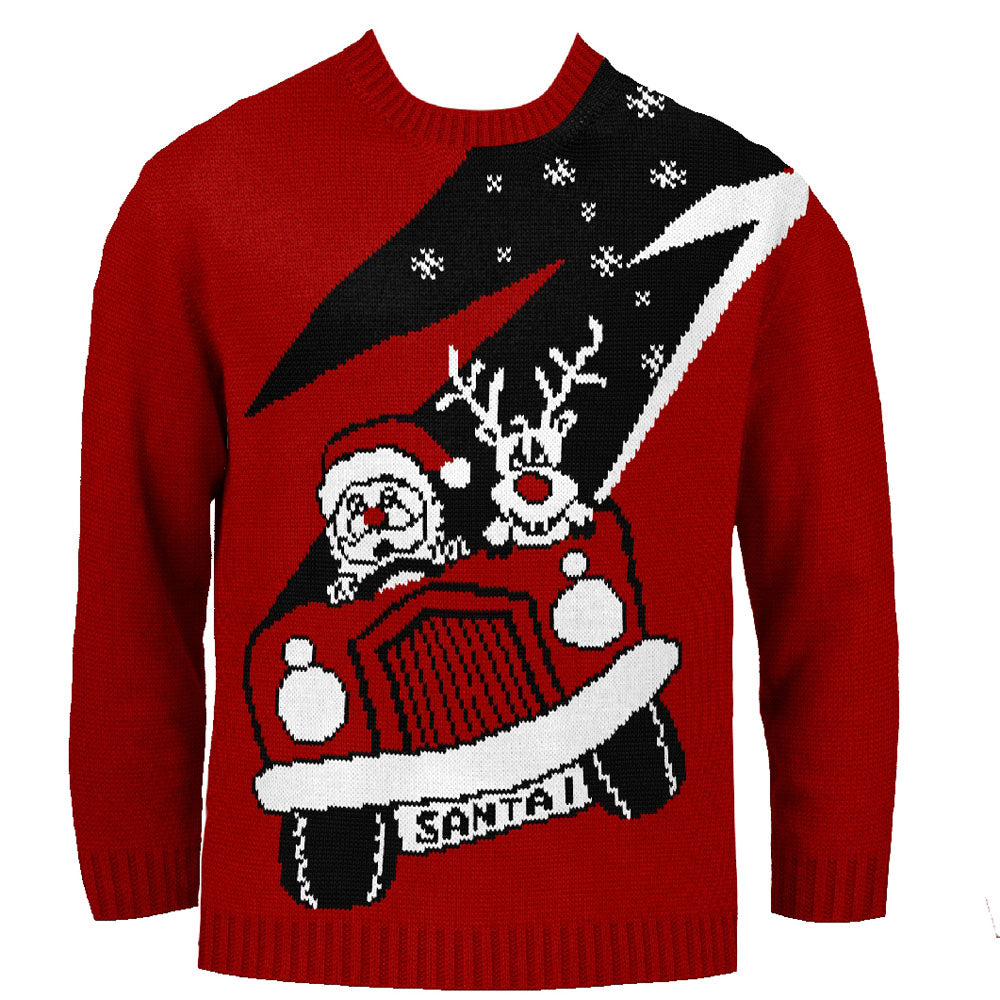 Santas New Ride Kids Eco Christmas Jumper