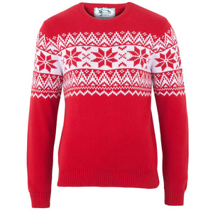 The Nordic Fairisle Red Mens Eco Christmas Jumper