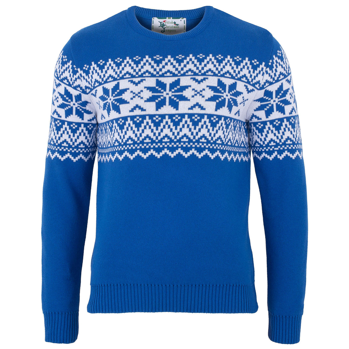 The Nordic Fairisle Blue Mens Eco Christmas Jumper