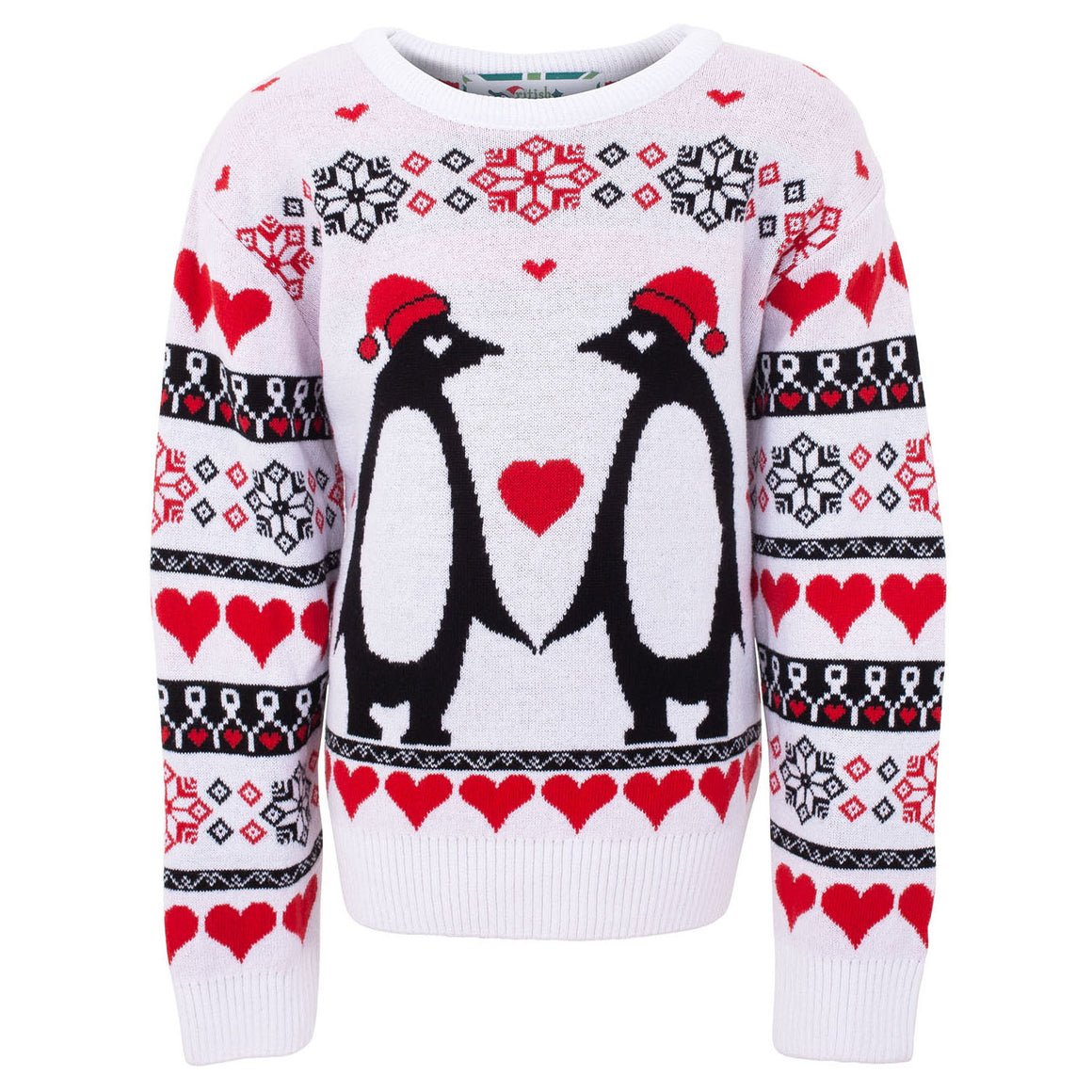 Penguin Love Kids Eco Christmas Jumper